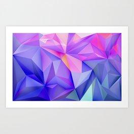 Pink & Purple Geometric Art Art Print