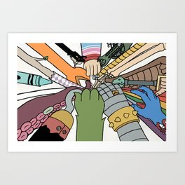 huddle Art Print