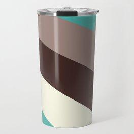 Mid Century Geometric Pattern Travel Mug