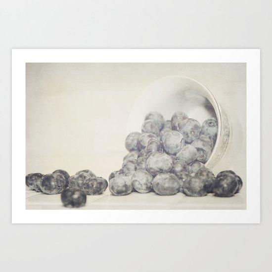 Spilled Blueberries Art Print