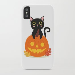 Halloween Black Cat iPhone Case