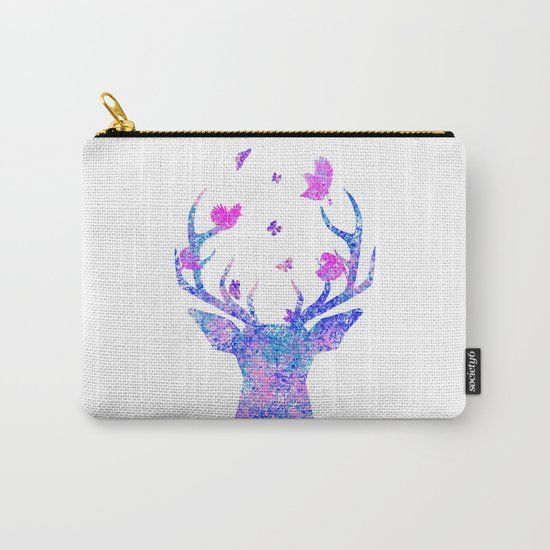 Flying Amongst the Antlers  Carry-All Pouch