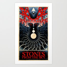 Stones from the Sky (color) Art Print