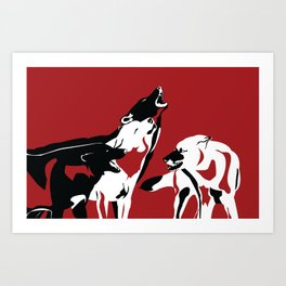 A Wolf's Bloodlust Art Print