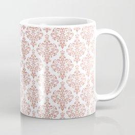 Elegant faux rose gold vintage floral damask Coffee Mug