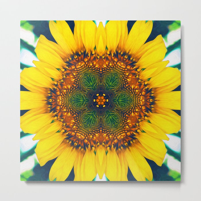 Structure of A Sunflower Metal Print