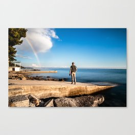 Rainbow in the gulf of Trieste Canvas Print