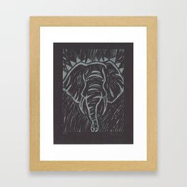 Friends of David Sheldrick Wildlife Trust - Black and Silver Elephant Print Framed Art Print