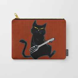 Cat with a fork Carry-All Pouch