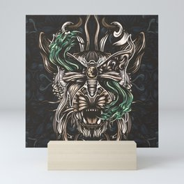 Moth and tiger Mini Art Print