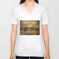 paris map V-neck T-shirts featuring Paris  by Bekim ART