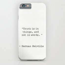 Herman Melville quote 12 iPhone Case