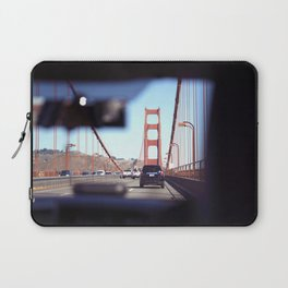 From the Backseat, Driving Across the Golden Gate Laptop Sleeve