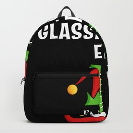 Glassblowing Elf Family Christmas Gift Backpack