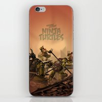 teenage mutant ninja turtles iPhone & iPod Skins featuring Teenage Mutant Ninja Turtles by s2lart