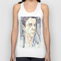 lou reed Tank Tops featuring Lou Reed by Germania Marquez