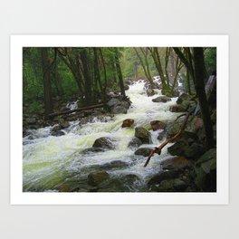Bridal Falls Runoff Art Print