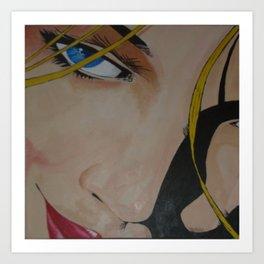 """Try Me"" (acrylic on canvas) Art Print"