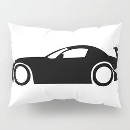 Race Car Silhouette Pillow Sham