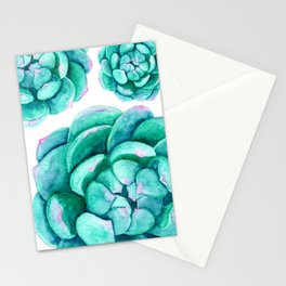 Watercolor Succulent Aeonium Stationery Cards