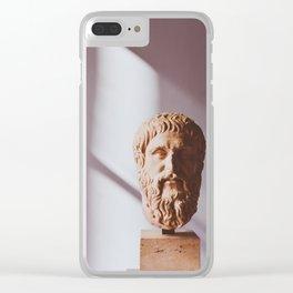 Statue 02 Clear iPhone Case