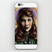 sylvia plath iPhone & iPod Skins featuring St. Sylvia Plath by Buttons McTavish