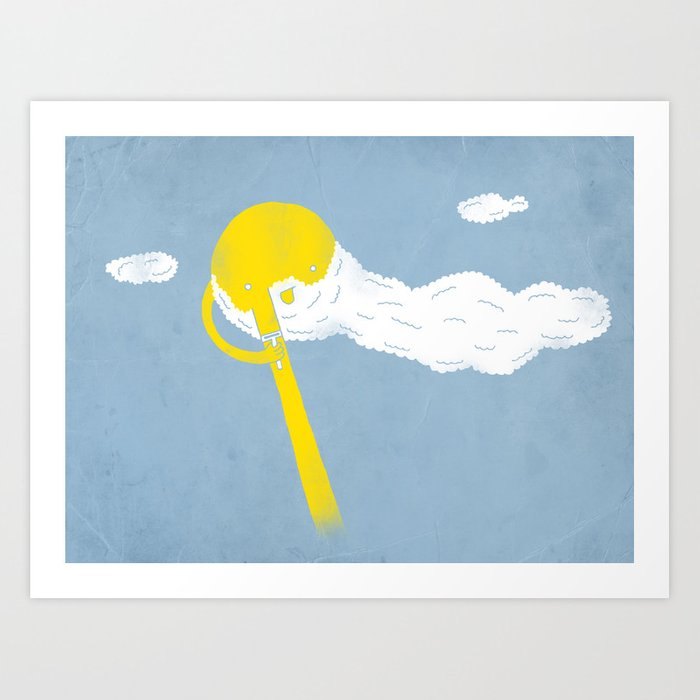 Early morning shave Art Print