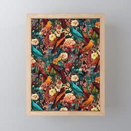 FLORAL AND BIRDS XVII Framed Mini Art Print