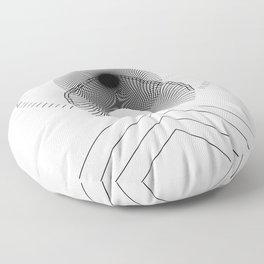 Sunrise (on White) Floor Pillow