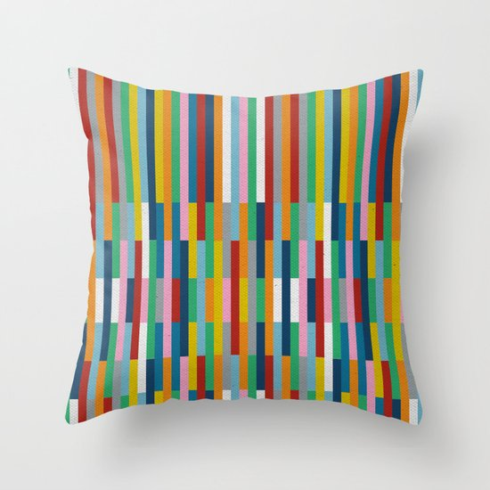 Bricks Rotate #3 Throw Pillow