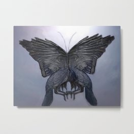 Everything's a Butterfly Metal Print