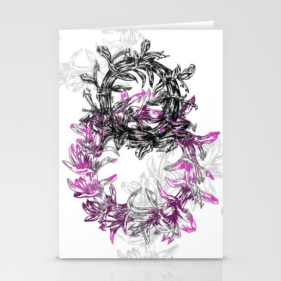 Flowers Circle Stationery Cards