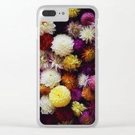 Dahlia Mix Clear iPhone Case