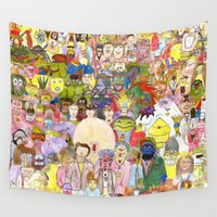 muppet Wall Tapestries featuring The Fuzzy Crowd by Myles Hunt