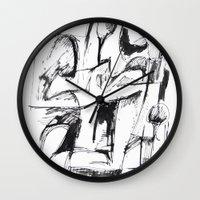 sketch Wall Clocks featuring Sketch by Alexander Babayan