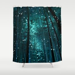 Night in Bamboo Shower Curtain