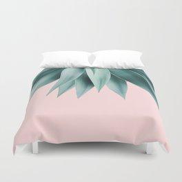 Agave fringe - blush Duvet Cover