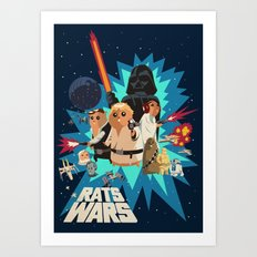 Star Wars FanArt: Rats Wars Art Print