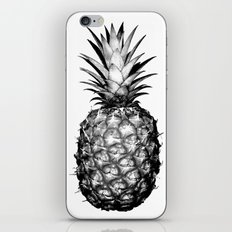 Black & White Pineapple iPhone Skin