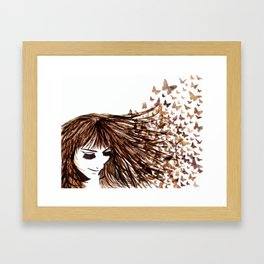 You Give Me Butterflies Framed Art Print