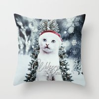 xmas Throw Pillows featuring ~Xmas by SOPHIA FREITAS