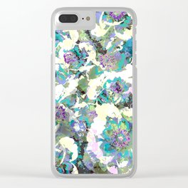 Bright Peony Garden Clear iPhone Case