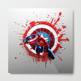 Civil War of Spider Captain Metal Print