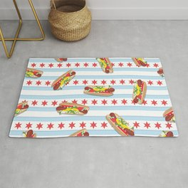 Chicago Hot Dogs Rug