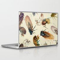 bugs Laptop & iPad Skins featuring summer cicadas by Teagan White