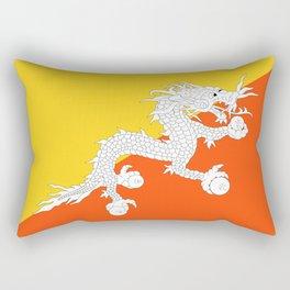 Bhutan Flag Rectangular Pillow