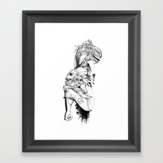 Empty Words Framed Art Print