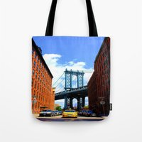 bridge Tote Bags featuring Bridge by Brown Eyed Lady