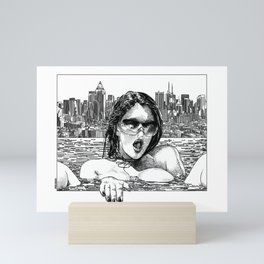 asc 382 - Le réconfort (Alone on the rooftop) Mini Art Print
