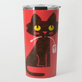 Fitz - Hungry hungry cat (and unfortunate mouse) Travel Mug